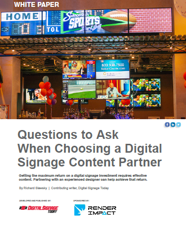 Questions to Ask When Choosing a Digital Signage Content Partner