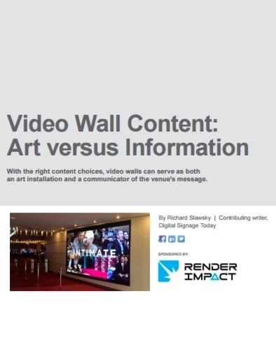 Video Wall Content: Art vs. Information